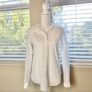 H&M - White button down long sleeve blouse